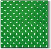 Салфетки Горох(зеленый), 33x33, 20шт Paw SDL066018