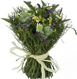 Цветок искусственный Букет из полевых цветов 25см Floralsilk 12918ASS