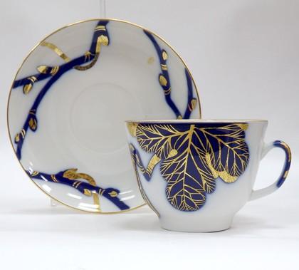 Чашка с блюдцем Смоковница, ф. Подарочная ИФЗ 81.19176.00.1