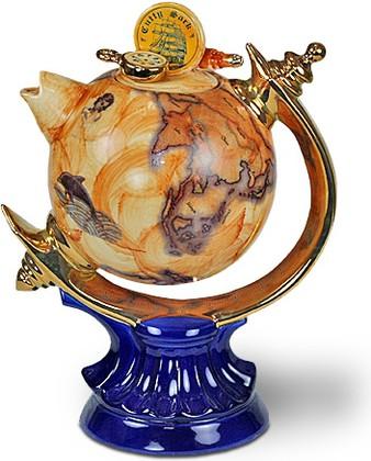 "Чайник коллекционный ""Глобальное чаепитие"" (Globe Teapot), артикул The Teapottery 4428"