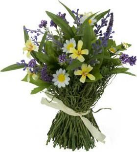 Цветок искусственный Букет из полевых цветов, 18см Floralsilk 12917ASS