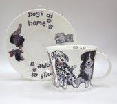 Чайная пара Собаки дома, 500мл Roy Kirkham XDOG1110