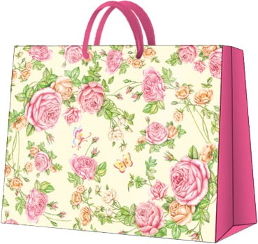 """Пакет подарочный """"Садовые Розы"""" 33.5x26.5x13см Paw AGB015206"""