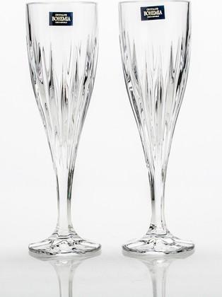 Фужеры для шампанского Эльза 180мл, 2шт Crystalite Bohemia 1KD08/0/99Т80/180Х2