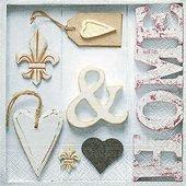 Салфетки Дом Дом, 33x33см, 20шт Paper+Design 200035