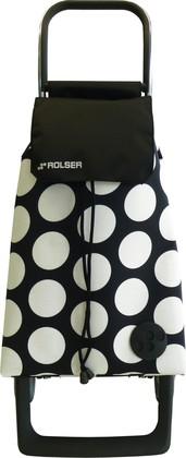 Сумка-тележка хозяйственная бело-черная ROLSER Joy-1800 BAB017blanco/negro