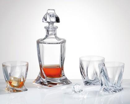 """Набор для виски """"Квадро"""" графин 850мл + 6 стаканов 340мл Crystalite Bohemia 99999/9/99A44/480S"""