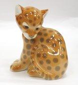 Скульптура Маленький леопард, фарфор ИФЗ 82.01060.00.1