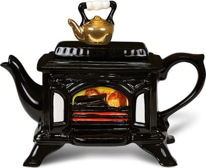"Чайник коллекционный ""Чай с печи"" (Woodburner Stove Teapot) The Teapottery 4468"