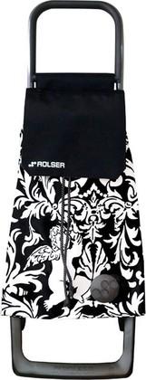Сумка-тележка хозяйственная черно-белая ROLSER Joy-1800 BAB011blanco/negro
