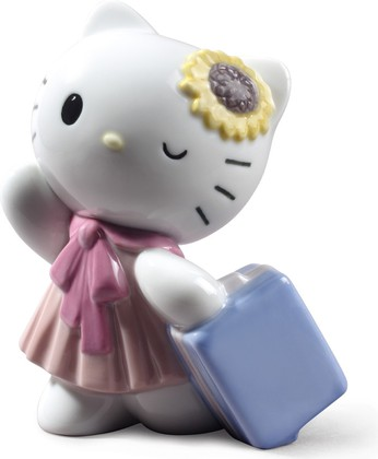Статуэтка фарфоровая Путешествие HELLO KITTY! (Travelling With Hello Kitty) 12см NAO 02001798