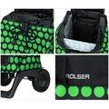 Сумка-тележка хозяйственная компактная зелёно-чёрная Rolser JOY-1800 BABY BAB001verde/negro