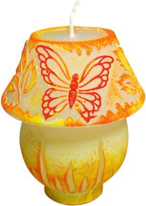 "Свеча ""Лампа с бабочками"", с подсветкой, 11см Bartek Candles 177123"