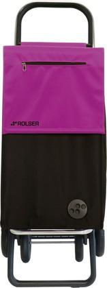 Сумка-тележка хозяйственная чёрно-фиолетовая Rolser QUATTRE.2 SBE001negro/malva