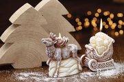 """Свеча """"Фигурка оленя"""" с подсветкой, 10х12см Bartek Candles 174121"""