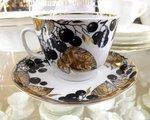 Чашка с блюдцем Черноплодная рябина, ф. Подарочная ИФЗ 81.10646.00.1
