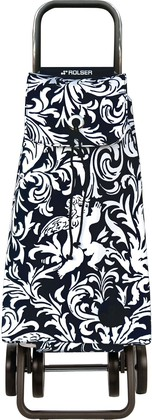 Сумка-тележка хозяйственная белая с чёрным Rolser LOGIC RG PAC061blanco/negro