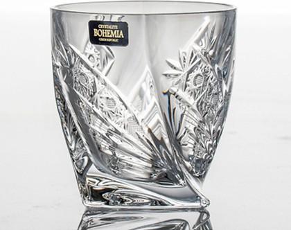 """Стаканы для виски """"Квадро"""" (Комета) 340мл, 6шт Crystalite Bohemia 2K936/0/35003/340-6"""