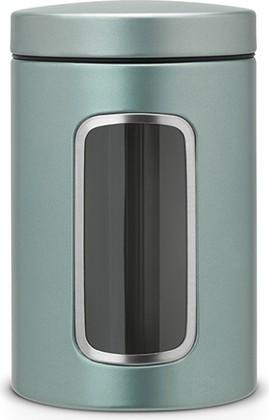 Brabantia Контейнер из стали цвета мятный металлик с прозрачным окошком, 1,4л 484360