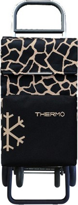 Термосумка-тележка хозяйственная чёрно-золотистая Rolser QUATTRE.2 THERMO TER049camel