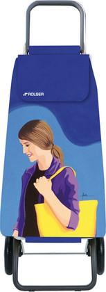 Сумка-тележка хозяйственная синяя с рисунком Rolser RG MOU136azul/lois
