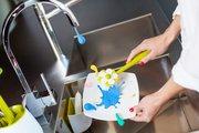 Щётка для посуды с губкой на подставке Vigar Flor 6026