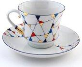 Чашка с блюдцем Калейдоскоп, ф. Банкетная ИФЗ 81.14913.00.1