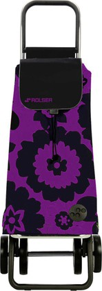 Сумка-тележка хозяйственная чёрная с фиолетовым Rolser DOS+2 MOU056lila/negro
