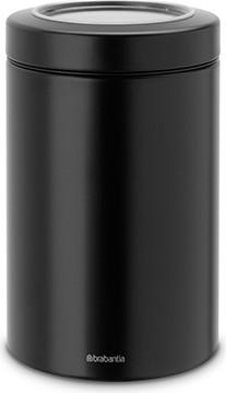 Контейнер с прозрачной крышкой 1.4л, чёрный матовый Brabantia 484582