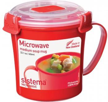 Кружка суповая 656мл Sistema Microwave 1107