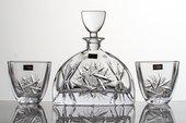 """Набор для виски """"Нэмо"""" (Ветренник) графин 700мл + 2 стакана 320мл Crystalite Bohemia 99999/9/28320/128"""