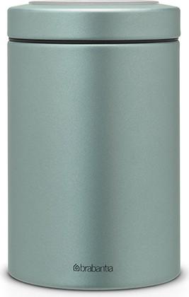 Контейнер с прозрачной крышкой 1.4л, сталь цвета мятный металлик Brabantia 484346