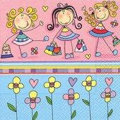 Салфетки для декупажа Весёлые девочки, 33x33см, 3 слоя, 20шт Paper+Design 21782