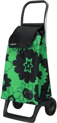 Сумка-тележка хозяйственная компактная зелёная с чёрным Rolser JOY-1800 BABY BAB002verde/negro