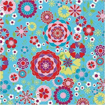 Салфетки коктейль Цветная мозайка, 25x25см, 3 слоя, 20шт Paper+Design CN0684