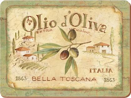 Подставки на пробке Olio d'Oliva 40x29см, 4шт Creative Tops 5169661