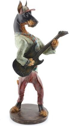 Статуэтка собака Гитарист 41см The Leonardo Collection LP27582