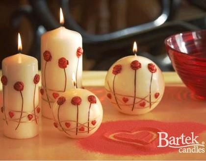 """Bartek Candles MINI ROSA Свеча """"Мини-роза"""", колонна 60х130мм, артикул 5907602654431"""
