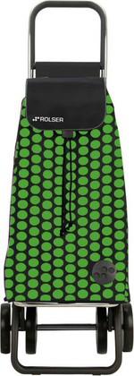 Сумка-тележка хозяйственная чёрно-зелёная Rolser LOGIC DOS+2 PAC006verde/negro