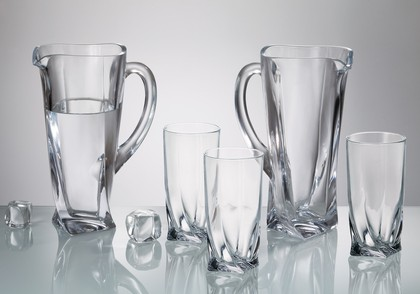 """Набор для воды """"Квадро"""" кувшин 1,1л + 6 стаканов 350мл Crystalite Bohemia 99999/9/99A44/100"""