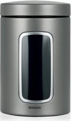 Контейнер стальной с окном 1.4л, платиновый Brabantia 288425