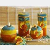 "Свеча ""Романтика"" колонна 7х14cм Bartek Candles 5907602654547"