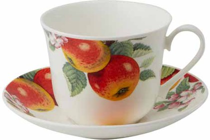 """Чайная пара для завтрака """"Яблонька"""" форма Джамбо, 450мл Roy Kirkham XFRUITTRE1165"""