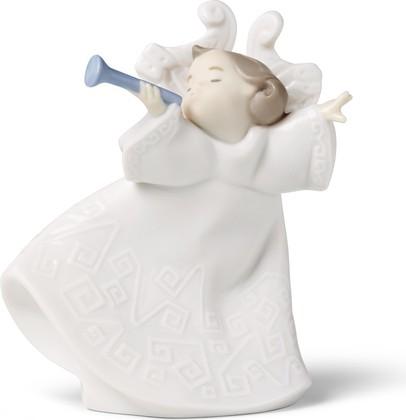 Статуэтка фарфоровая Соло на Трубе (Brass Melody) 11см NAO 02001533