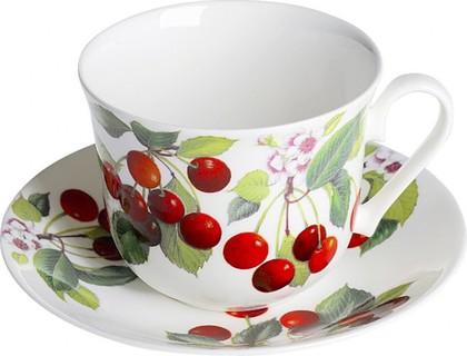 """Чайная пара для завтрака """"Вишня"""" 500мл Roy Kirkham XCHER1100"""