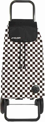 Сумка-тележка хозяйственная бело-чёрная Rolser LOGIC RG PAC073blanco/negro