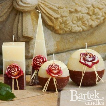 "Bartek Candles SCARLET Свеча ""Скарлет"", блок 70х70х140мм, артикул 5907602636178"