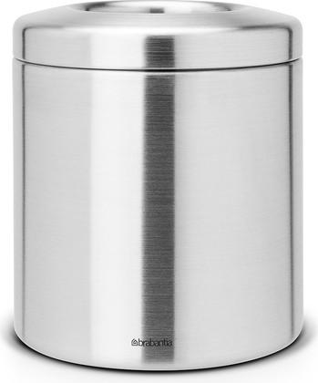 Настольный контейнер для мусора 1л стальной матовый Brabantia 297960