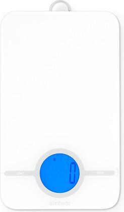 Цифровые кухонные весы 5кг/1г из нержавеющей стали белого цвета Brabantia 480584