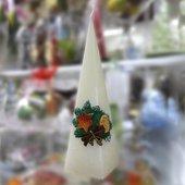 """Свеча """"Сочельник"""", пирамида, 7х7х24см Bartek Candles 189032"""
